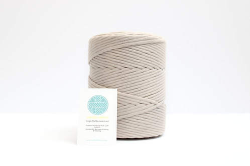 3mm Coloured Macrame Cord | Stone Beige | Recycled Single Ply | 200 meter | 1kg