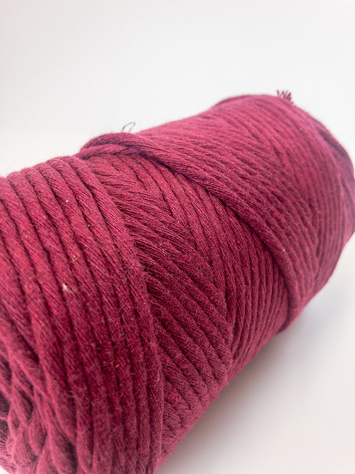 100 Meter 3mm Macramé Cord  Single Ply Recycled - Mulberry