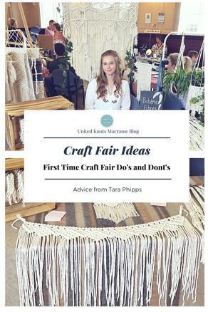 Craft Fair Ideas - First Time Craft Fair Do's and Dont's