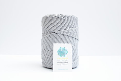 3mm Coloured Macrame Cord | Cloud Grey | Recycled Single Ply | 200 me