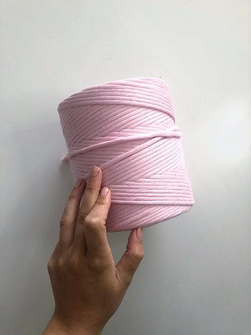 Baby Pink 5mm Macrame Cord Single Ply 220 Meters