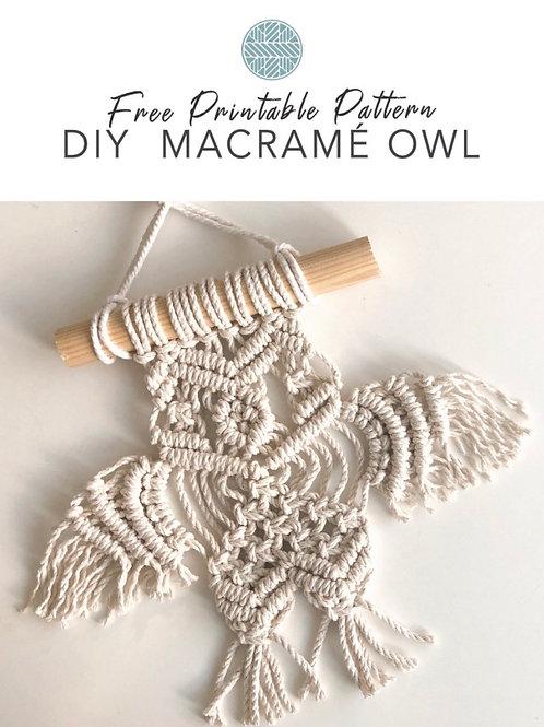 Free Macrame Owl Pattern Print at Home PDF