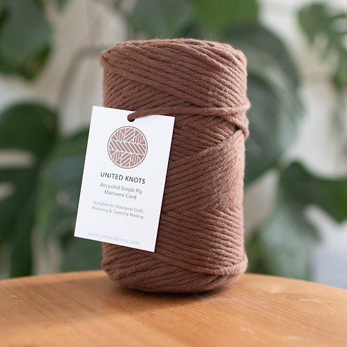 3mm Macrame Cord - Recycled Single Ply 100 meters / 500g