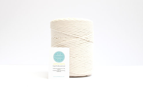 3mm Coloured Macrame Cord | Natural | Recycled Single Ply | 200 meters