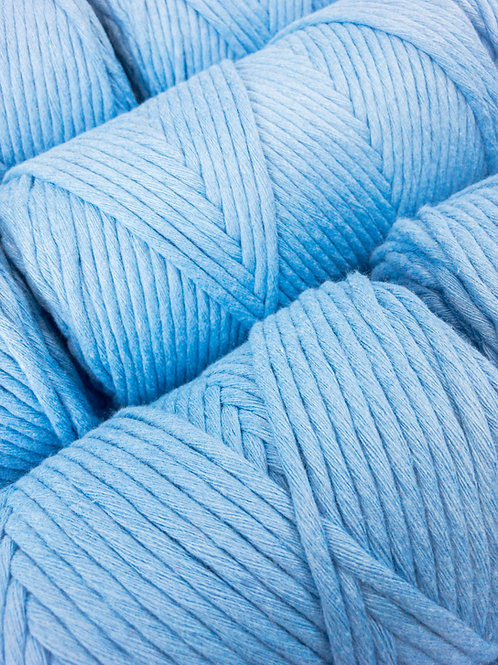 100 Meter 3mm Macramé Cord  Single Ply Recycled - Dream Come Blue