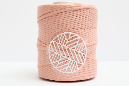 Light Coral Peach 5mm Macrame Cord Single Ply 220 Meters