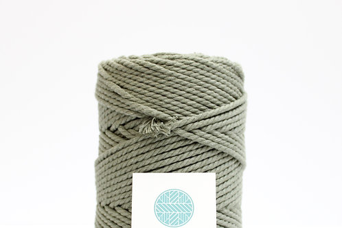 3mm Coloured Macrame Cord  | Forest Green | Recycled Cotton | 3 ply | 100 meter