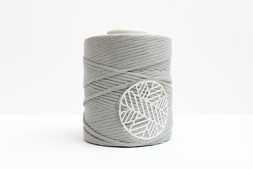 Dove Grey 5mm Macrame Cord Single Ply 220 Meters