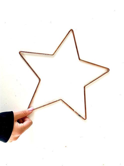 Medium Star Metal Frame Copper - 29cm/ 12 inch