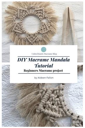 Macrame Mandala Tutorial - DIY Macrame Project- Macrame Pattern tutorial