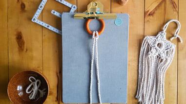 Beginners Macrame Knots - 1. Larks Head Knot