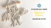 DIY Macrame Owl pattern - Beginners Tutorial- Easy Step by Step