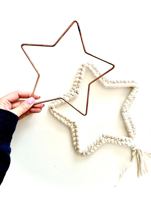 Small Star Metal Frame Copper - 20cm/ 8 inches
