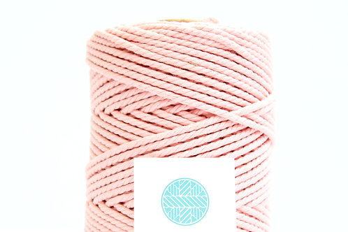 3mm Coloured Macrame Cord | Baby Pink | Recycled Cotton | 3 ply | 10