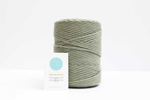 3mm Coloured Macrame Cord | Forest Green | Recycled Single Ply | 200 me