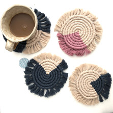 DIY Macrame Coasters- Beginners Tutorial- Easy Step by Step