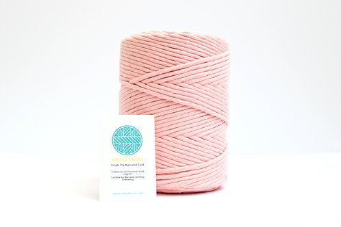 3mm Coloured Macrame Cord | Baby Pink | Recycled Single Ply | 200 me