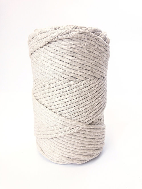 100 Meter 3mm Macramé Cord Single Ply Recycled - Stone Beige