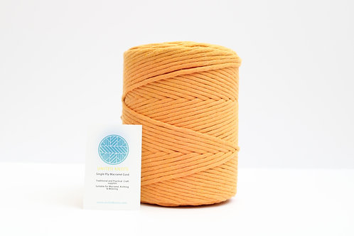 3mm Coloured Macrame Cord | Pumpkin | Recycled Single Ply | 200 me