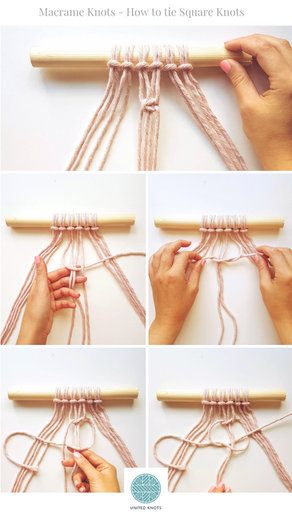 Beginners Macrame Knots - 2. Square Knots