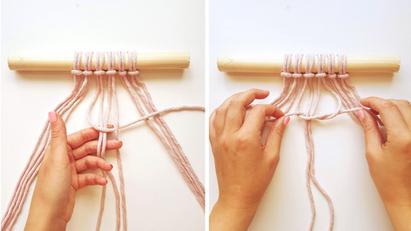 Beginners Macrame Knots - 2. Square Knots
