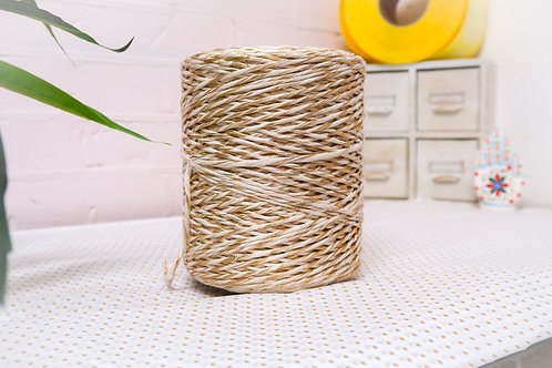 Gold and Natural 2mm Single Ply 320 meters