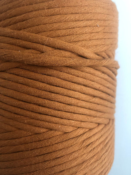 Copper Tan 5mm Macrame Cord Single Ply 220 Meters