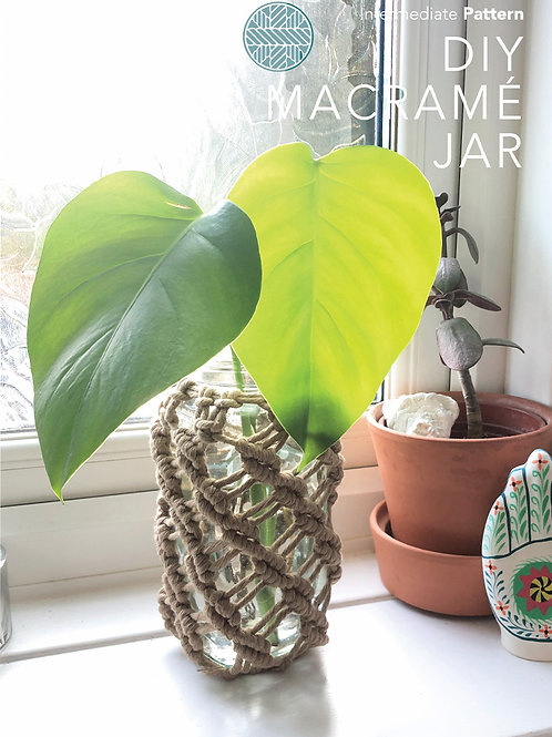 Macrame Pattern PDF - Macrame Jar DIY print at home Macrame