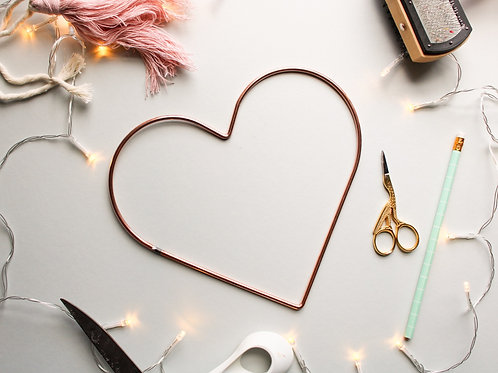 Heart Metal Frame Copper - 20.5cm 8 inches