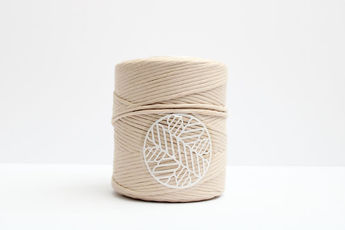 Cream 5mm Macrame Cord Single Ply 220 meter