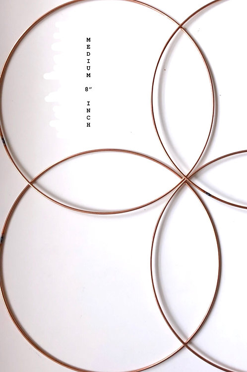 "Copper Macrame Craft Ring Medium 8""- 4 pack"