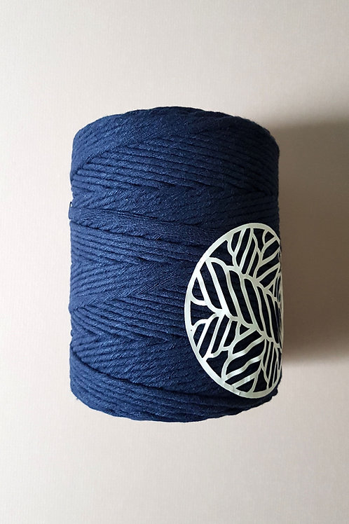 Navy Blue Macrame Cord Single Ply