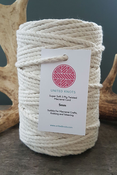 5mm Supersoft 3ply Macrame Cord