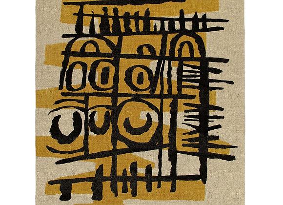 Sgraffito II - Textile Panel