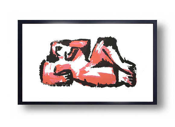 Reclining Figure Pink - Screen Print