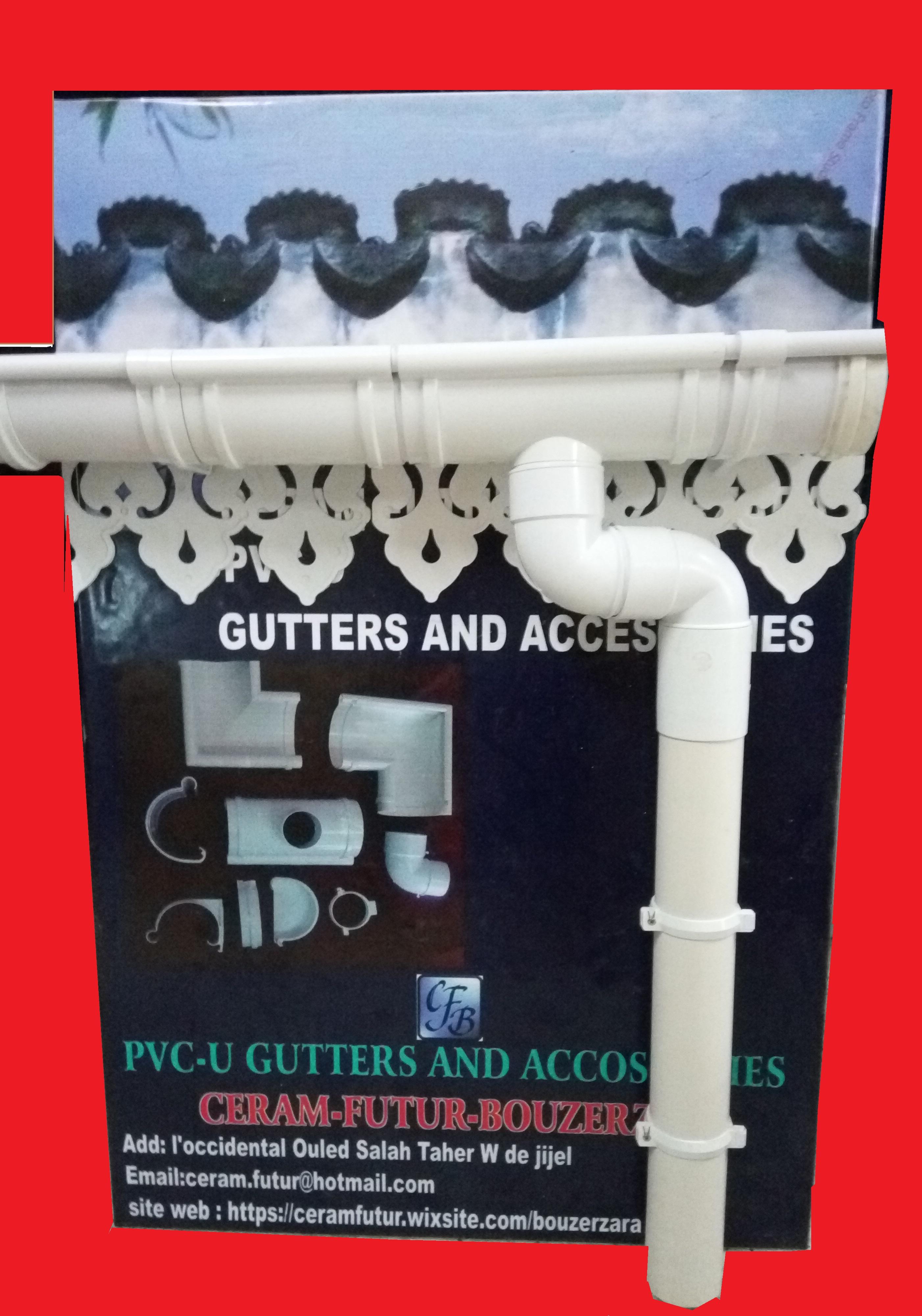 Gouttière Pvc En U pvc and gutters accessories | bouzerzara