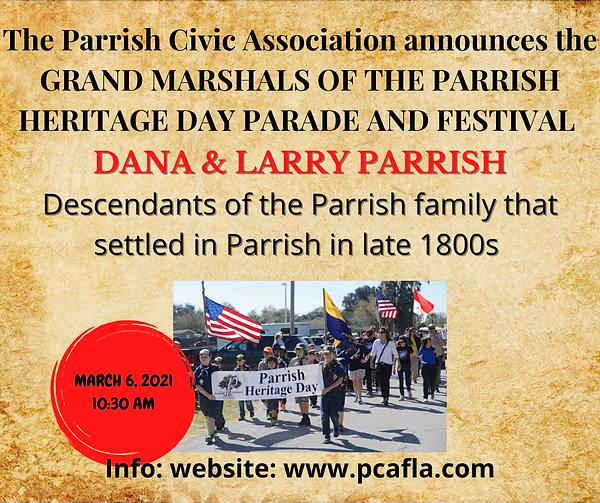 The Parrish Civic Association announces