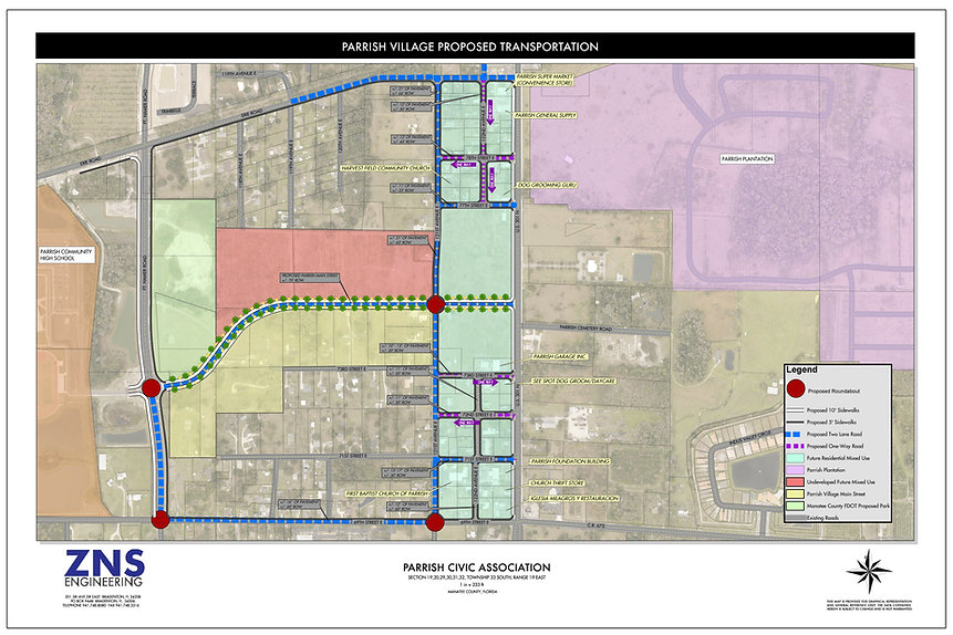 Parrish Village Proposed Transportation-