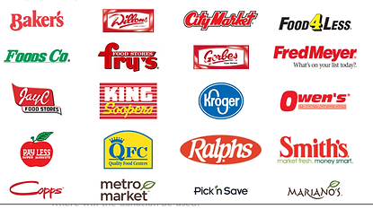 King soopes and affiliate stores image: bakers,foods co., jay c food stores, pay less, copps,dillons, frys, qfc,metro market, city mrket, gorbes, kroge, ralphs,pick n save, fod 4 less, fre meyer, owens, smiths, marianos