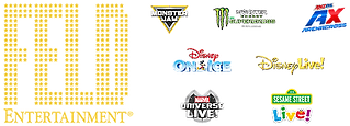 feld entertainment logo: monster jam, disney on ice, universal live, disney live, sesame street live