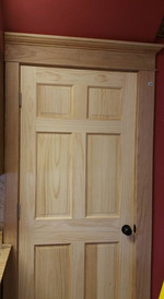 Unfinished pine and oak casing