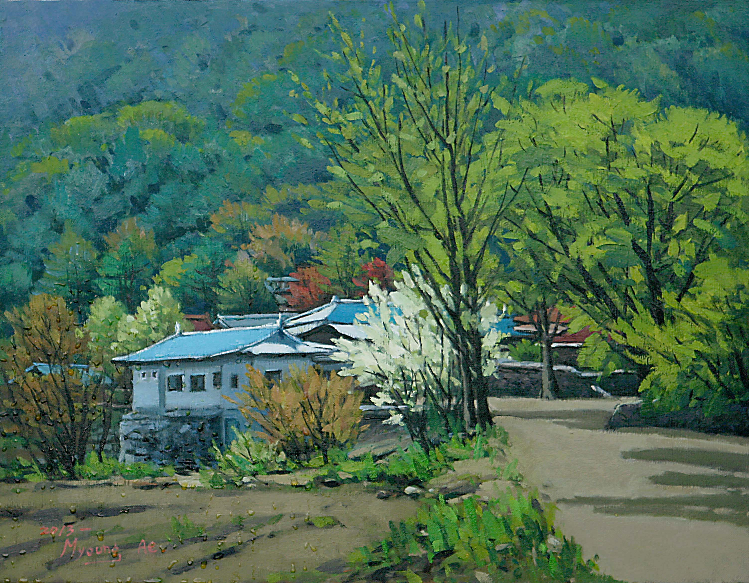 14. Spring in the Gyeryongsan Mt.(계룡산의 봄) 53.0x40.9(10호)
