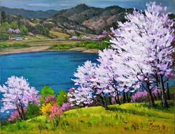 15. The cherry blossom in Yeongdong(영동의 벚꽃) 53.0x40.9(10호)