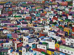 11월.이경림 Kyunglim Lee - Coexistence, 107 x 80 cm. Mixed Media. 2016