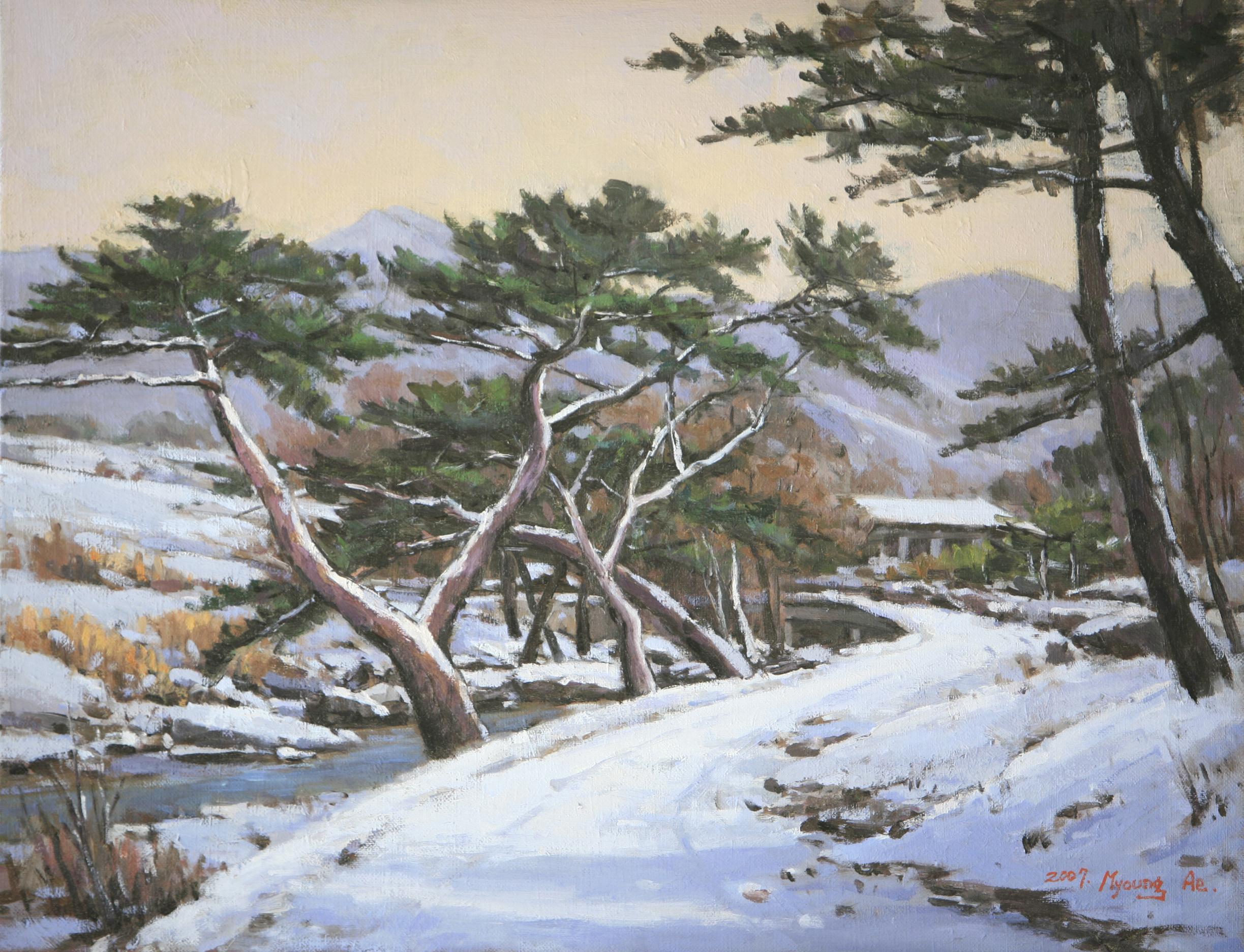 계룡산의 겨울 53.0 x 40.9