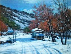 18. Winter in the Hamyang(함양의 겨울) 53.0x40.9(10호)