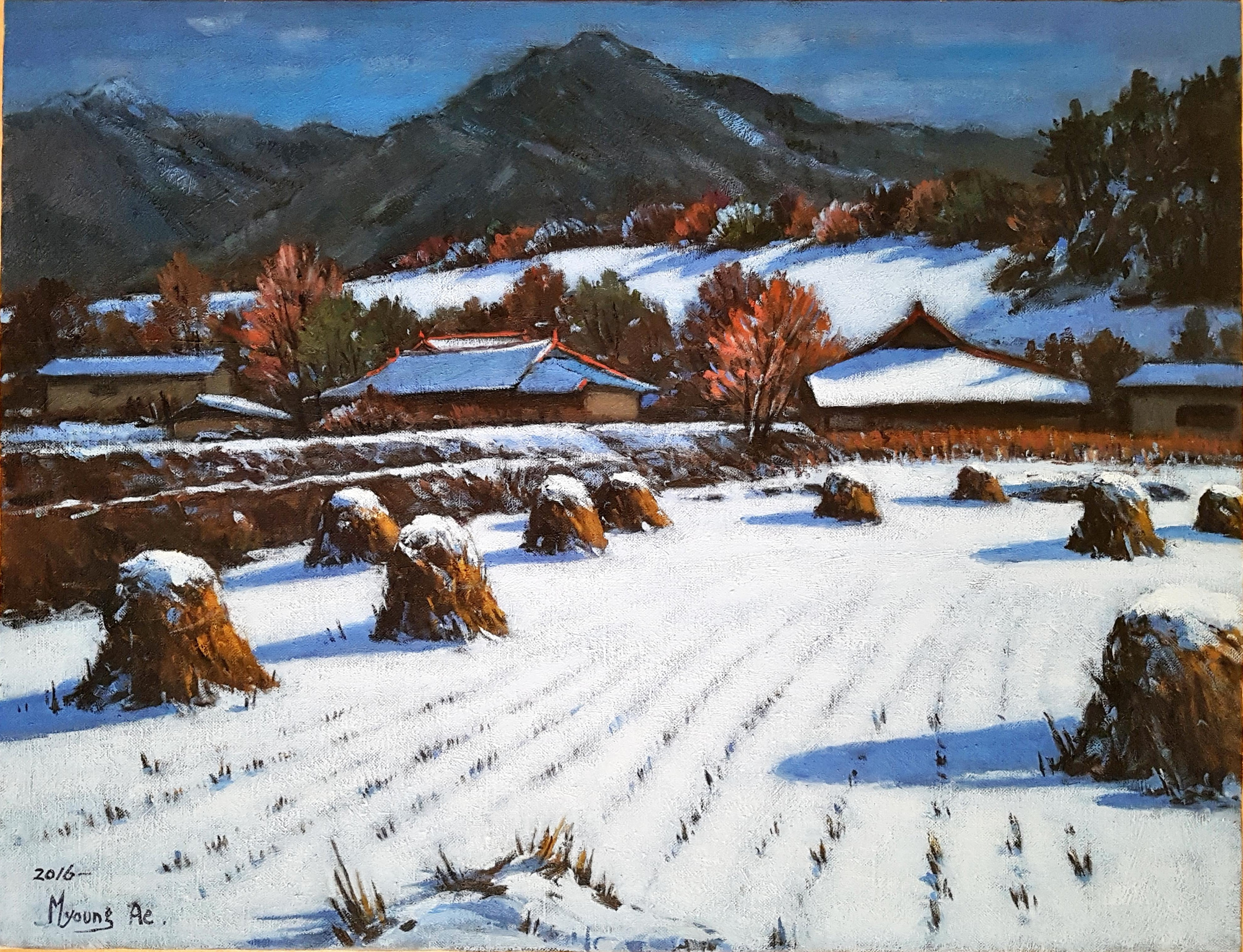 17. Winter in the Muju(무주의 겨울) 65.1x50.0(15호)