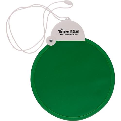 Green Breezer Fan with Lanyard (Round)