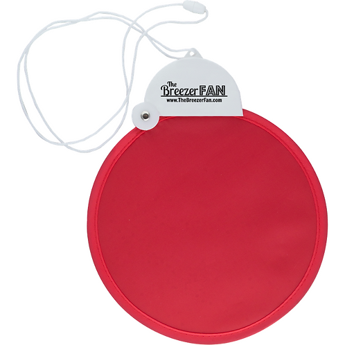 Red Breezer Fan with Lanyard (Round)