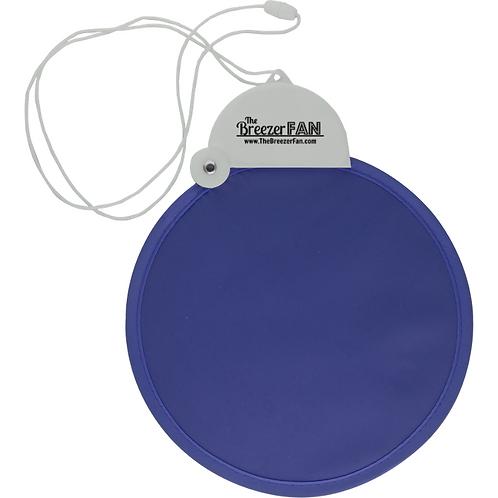 Blue Breezer Fan with Lanyard (Round)